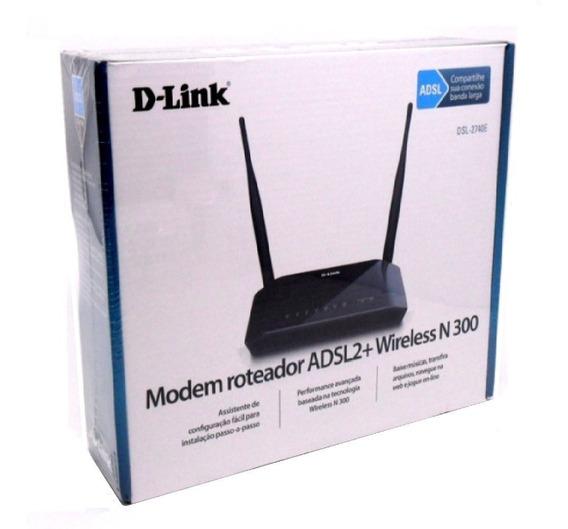 Modem Roteador D-link Wireless 300mbps Dsl-2740e Preto
