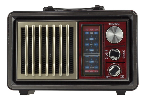Radio Retro Am Fm Bluetooth Retro Usb Com Lanterna Portatil