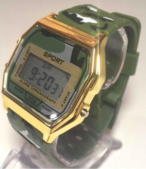 Relógio Feminino Sport Militar Camuflado Super Delicado