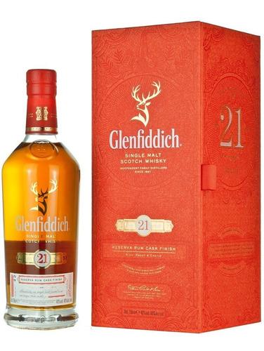 Imagen 1 de 9 de Whisky Glenfiddich 21 Años Rum Cask Finish 700ml En Estuche