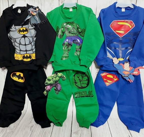 Sets Frisado Buzo Pantalon Jogging Super Heroe Patrol Mickey