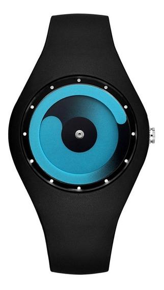 Reloj Hombres Concep Minimalista Flujo Color Celeste Unisex.