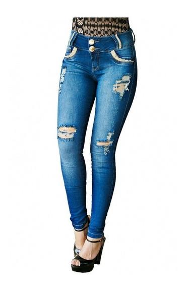 Calça Jeans Zigma Skinny Com Stras