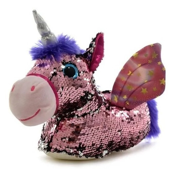 Pantufla Unicornio Con Lentejuelas Importadas Phi Phi Toys