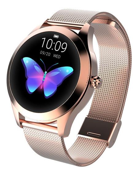 Reloj Inteligente Kingwear Kw10 Impermeable Ip68 Para Mujer