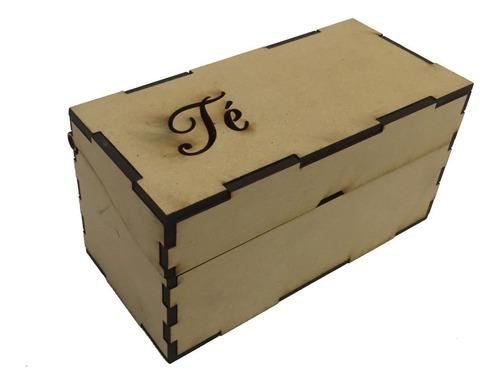50 Caja2 De Te 2 Division 14x7x7,5 Souvenir Personalizado