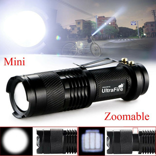 Lampara Tactica Mini Super Brillante 1200 Lumens T6 Con Zoom