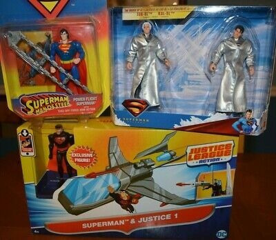 Trío De Figuras De Acción De Superman: Devoluciones Con Jor