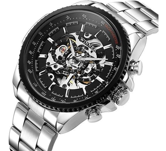 Relógio Winner,automático E A Corda,masculino,modelo M19