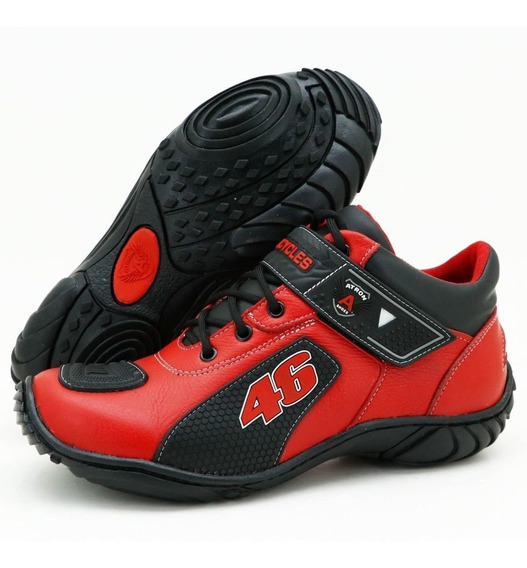 Bota Motociclista Valentino Rossi Atron Shoes 401 Oferta