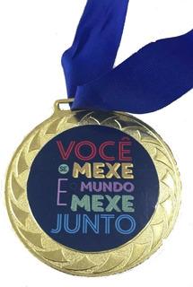Medalha Personalizada 100 Unidades 4 Cm De Diametro