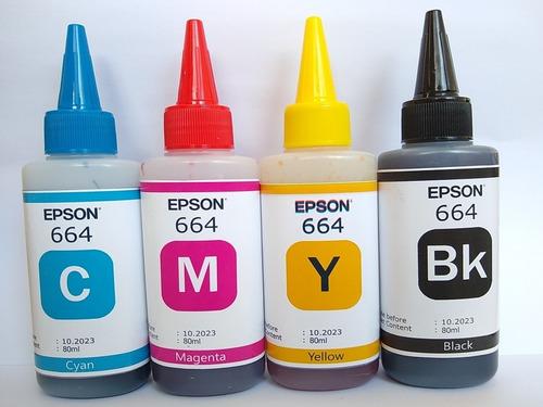 Tinta Epson T664 80ml Combo L200 L210 L350 L355 L375 L575 55