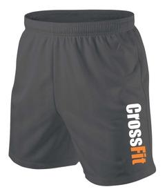 Bermuda Shorts Crossfit Academia Logo Cross Fit Fitness