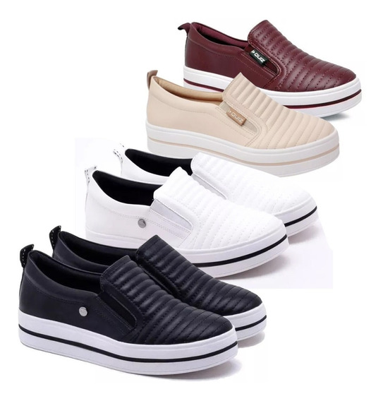 Tênis Quiz Slip On 67-34910 Flatform Feminino Original