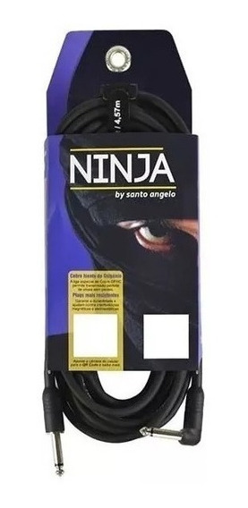 Cabo Santo Ângelo Ninja P10 X P10 L Para Guitarra - 3,05m
