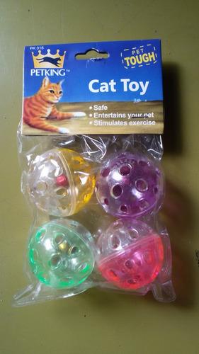 Juguetes De Gatos (pelotas) - Paq. 4 Unidades