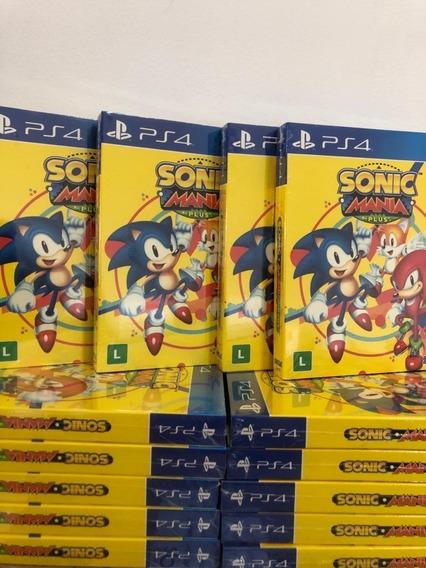 Sonic Mania Plus Ps4 Mídia Física Lacrado Envio Imediato