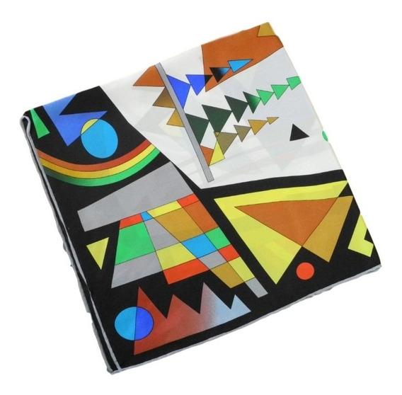 Lenço De Seda Pura Picasso 56x56 - Italy