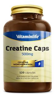 Creatine Caps - 120 Cápsulas - Vitaminlife