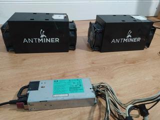 Combo 2 Mineros Bitcoin Antminer S3 Con Fuente Hp. Bitmain