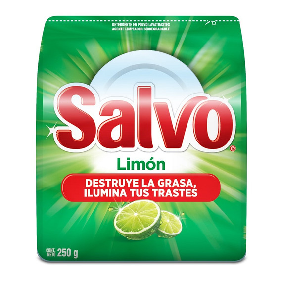 Lavatrastes Polvo Salvo Limón 250 G