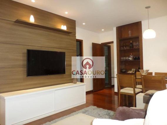 Apartamento Com 3 Dormitórios À Venda, 100 M² Por R$ 433.000 - Serra - Belo Horizonte/mg - Ap0889