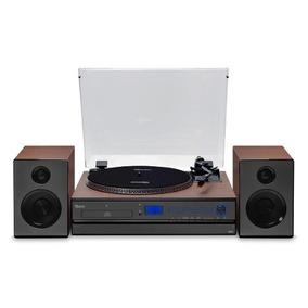 Vitrola Vinil Moderna Com Bluetooth Usb Cd Acústica Retrô