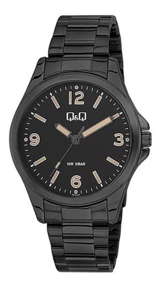 Reloj Q&q By Citizen Negro Pavonado Hombre Caballero Orig
