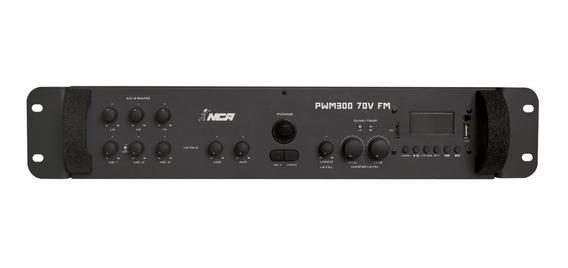 Mixer De Som Amplificado 4 Ohms 70v Fm 300w Rms Ll Áudio
