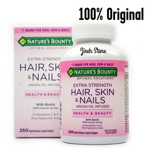 Hair Skin & Nails Biotina 5000mcg Nature´s Bounty X250 Capsu
