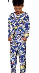 Pijama Infantil Longo Sonic