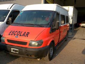 Ford Transit 350l Con Habilitado Escolar 15+1
