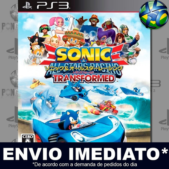 Sonic And All Stars Racing Transformed Ps3 Psn Jogo Promoção
