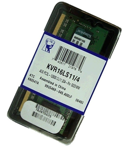 Memoria Ram Notebook Ddr3 4gb 1600mhz Kingston Nueva Sellada