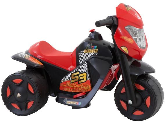 Moto Elétrica Infantil Ban Moto 6v Bandeirante - Preto