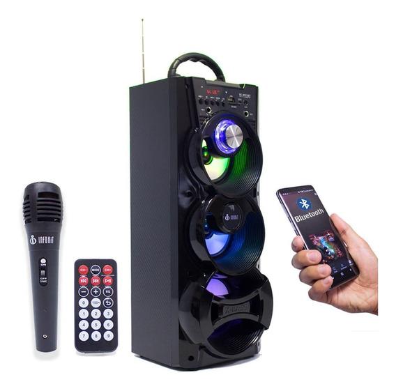 Caixinha Som Portátil Amplificada Bluetooth Com Microfone A