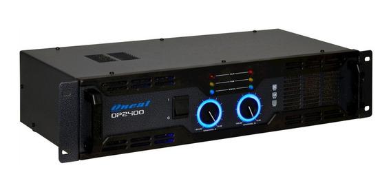 Amplificador De Potência Oneal Op2400 Bivolt 120/240v Preto