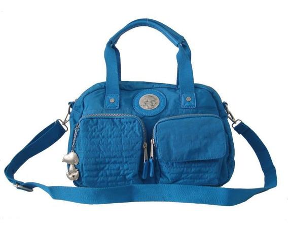 Bolsa Feminina Snoopy Sp4803 Coleção Be Casual Azul