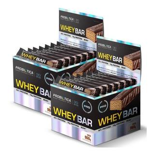 Combo 2x Whey Bar Caixa 24 Barras Cada - Probiótica Original