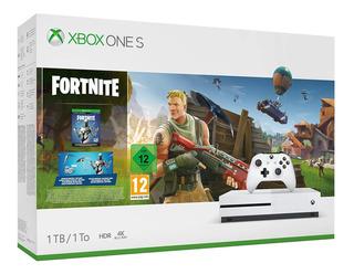 Microsoft Xbox One S 1TB Fortnite blanco