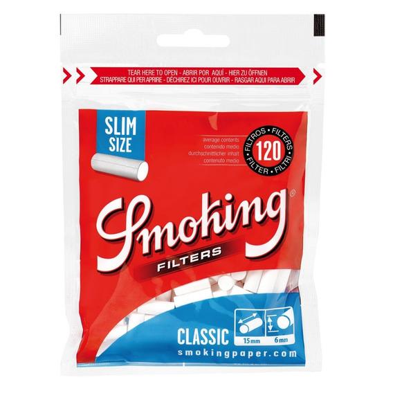 Filtro Smoking Slim Classic X 120 Filtros - 10 Packs (1200)