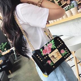 Bolsa Mini Bag Inspired Flores Alça Corrente Linda