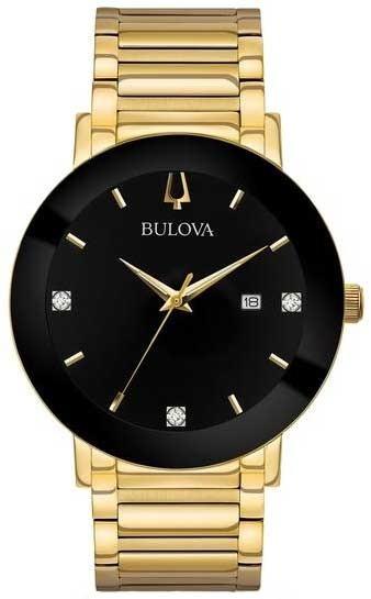 Relógio Social Dourado Bulova Original 97d116 Frete Grátis