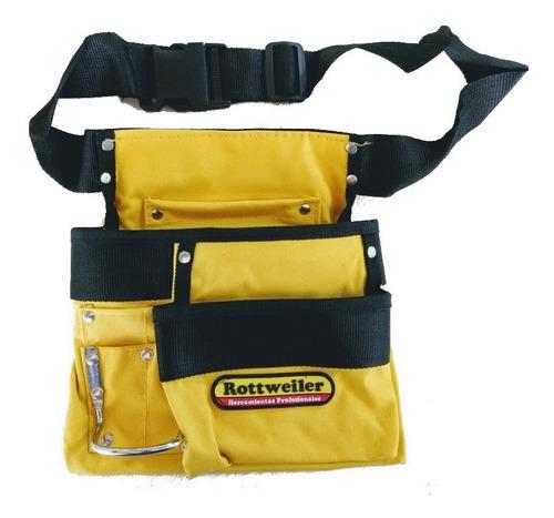 Imagen 1 de 6 de Cinturón Porta Herramientas Reforzado Cartuchera P/martillo