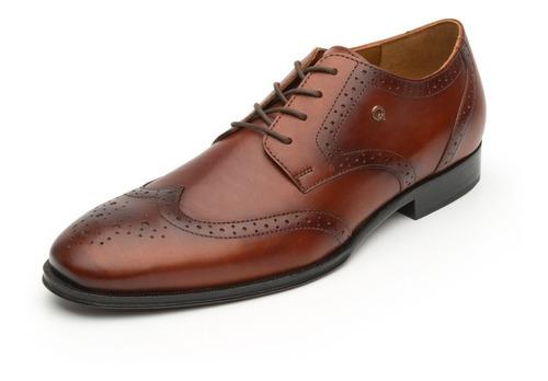 Imagen 1 de 6 de Quirelli 700102brandy Derby Bostoniano Zapato Para Caballero