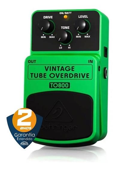 Pedal Para Guitarra To800 Vintage Tube Overdrive Behringer