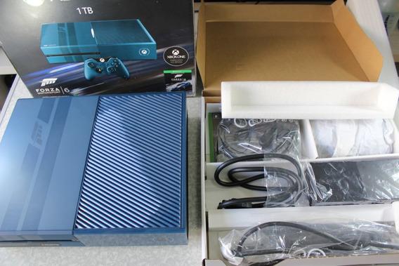 Xbox One Edição Forza 6 Novinho Na Caixa Completo + Gears