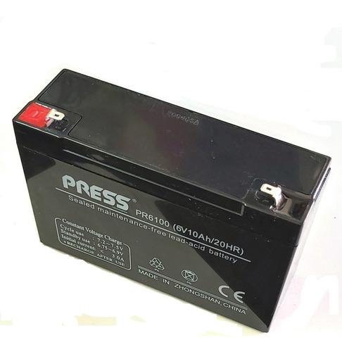 Batería 6v 10ah Para Autitos Juguetes Ups + Cargador 6v 1ah