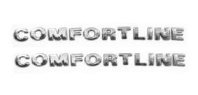 2 Emblemas Comfortline 2 Un. + Brinde Gol Golf Frete Grátis