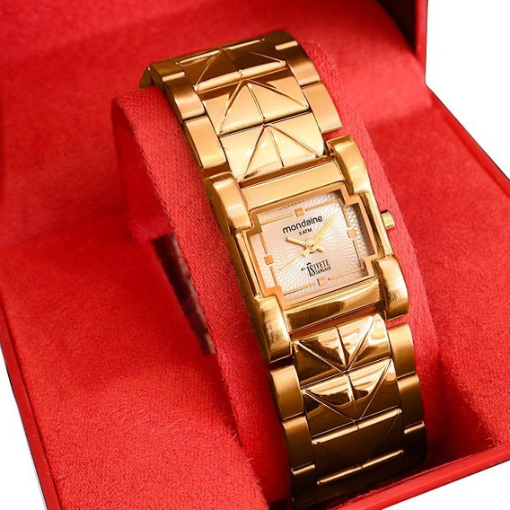 Relógio Mondaine Feminino Dourado Bracelete 69211lpmfde1
